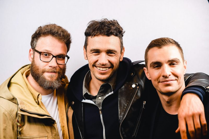"AUSTIN, TX - MARCH 12:  (L-R) Actor/producer Seth Rogen, actor/director James Franco, and actor Dave Franco pose for a portrait during the ""The Disaster Artist"" Premiere 2017 SXSW Conference and Festivals on March 12, 2017 in Austin, Texas.  (Photo by Matt Winkelmeyer/Getty Images for SXSW)"