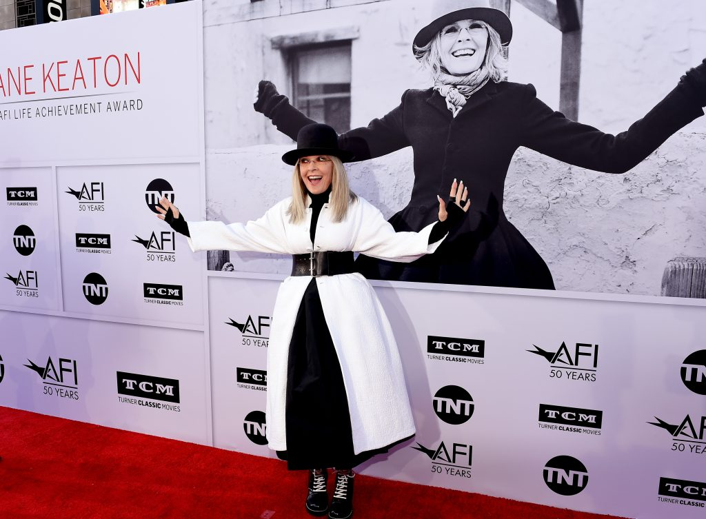 HOLLYWOOD, CA - JUNE 08:  Honoree Diane Keaton arrives at American Film Institute's 45th Life Achievement Award Gala Tribute to Diane Keaton at Dolby Theatre on June 8, 2017 in Hollywood, California. 26658_007  (Photo by Kevin Winter/Getty Images for Turner)