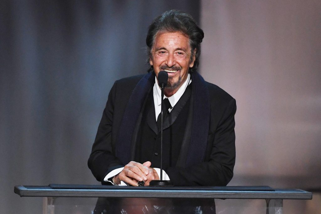 HOLLYWOOD, CA - JUNE 08:  Actor Al Pacino speaks onstage during American Film Institute's 45th Life Achievement Award Gala Tribute to Diane Keaton at Dolby Theatre on June 8, 2017 in Hollywood, California. 26658_007  (Photo by Kevin Winter/Getty Images)