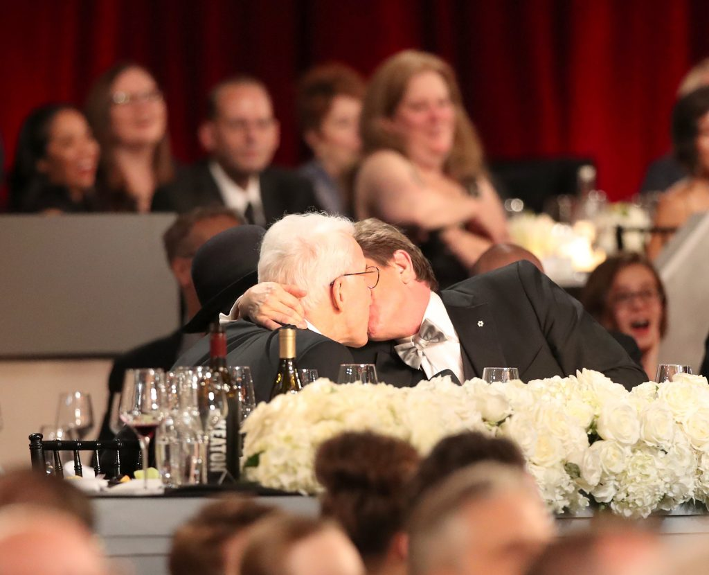 HOLLYWOOD, CA - JUNE 08:  Comedians Steve Martin and Martin Short during American Film Institute's 45th Life Achievement Award Gala Tribute to Diane Keaton at Dolby Theatre on June 8, 2017 in Hollywood, California. 26658_002  (Photo by Christopher Polk/Getty Images for Turner)