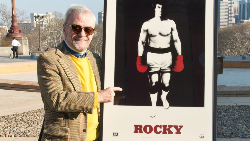 """PHILADELPHIA, PA - MARCH 10:  """"Rocky"""" Director John G. Avildsen Receives City Of Philadelphia Special Citation in celebration of the 90th Anniversary of Metro-Goldwyn-Mayer Studios and the release of THE ROCKY HEAVYWEIGHT COLLECTION on 4k Blu-ray from Twentieth Century Fox Home Entertainment, at Philadelphia Museum of Art on March 10, 2014 in Philadelphia, Pennsylvania.  (Photo by Gilbert Carrasquillo/Getty Images)"""