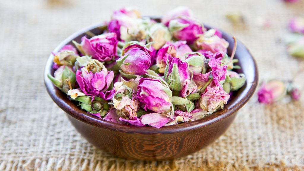 Dried rose bud which are used  for  tea,cusine, cosmetic and decoration