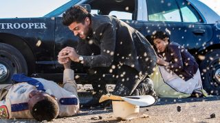 Dominic Cooper as Jesse Custer, Ruth Negga as Tulip O'Hare - Preacher _ Season 2, Episode 1 - Photo Credit: Skip Bolen/AMC