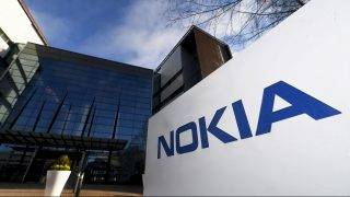 The headquarters of Finnish telecommunication network company Nokia are pictured in Espoo, Finland on April 27, 2017.  Finland's telecoms giant Nokia reported  that it remained deep in the red at the start of the year, with sales in its main business, networks, on the decline. / AFP PHOTO / Lehtikuva / Vesa Moilanen / Finland OUT