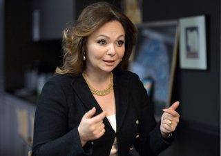 A picture taken on November 8, 2016 shows Russian lawyer Natalia Veselnitskaya speaking during an interview in Moscow. The bombshell revelation that President Donald Trump's oldest son Don Jr. met with a Kremlin-tied Russian lawyer hawking damaging material on Hillary Clinton has taken suspicions of election collusion with Moscow to a new level. / AFP PHOTO / Kommersant Photo / Yury MARTYANOV / Russia OUT