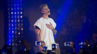 Canadian singer Justin Bieber performs at a concert during the Calvin Klein Jeans Music Festival in Hong Kong, China, 11 June 2015.