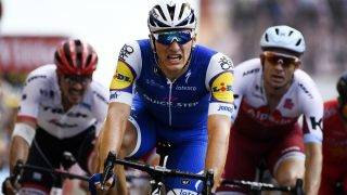 German Marcel Kittel of Quick-Step Floors crosses the finish line to win the seventh stage of the 104th edition of the Tour de France cycling race, 213,5 km from Troyes to Nuits-Saint-Georges, France, Friday 07 July 2017. This year's Tour de France takes place from July first to July 23rd. BELGA PHOTO YORICK JANSENS