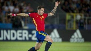 Saul Niguez of Spain controls the ball during the UEFA European Under-21 Championship Semi-Final match between Spain and Italy at Krakow Stadium in Krakow, Poland on June 27, 2017 (Photo by Andrew Surma/NurPhoto)