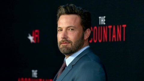 """HOLLYWOOD, CA - OCTOBER 10:  Actor Ben Affleck attends the premiere of Warner Bros Pictures' """"The Accountant"""" at TCL Chinese Theatre on October 10, 2016 in Hollywood, California.  (Photo by Frederick M. Brown/Getty Images)"""