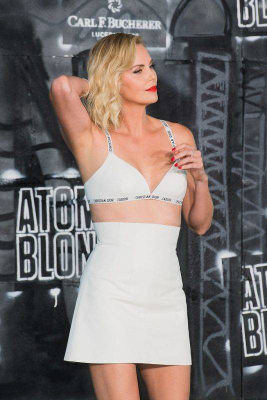 BERLIN, GERMANY - JULY 17:  Charlize Theron attends the 'Atomic Blonde' World Premiere In Berlin at Stage Theater on July 17, 2017 in Berlin, Germany.  (Photo by Matthias Nareyek/WireImage)