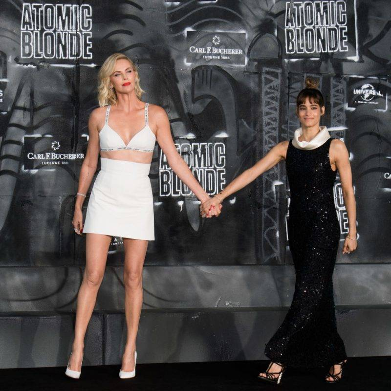 BERLIN, GERMANY - JULY 17:  Charlize Theron and Sofia Boutella attend the 'Atomic Blonde' World Premiere In Berlin at Stage Theater on July 17, 2017 in Berlin, Germany.  (Photo by Matthias Nareyek/WireImage)