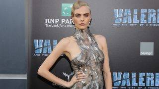 """HOLLYWOOD, CA - JULY 17:  Cara Delevingne attends the premiere of EuropaCorp and STX Entertainment's """"Valerian and The City of a Thousand Planets"""" at TCL Chinese Theatre on July 17, 2017 in Hollywood, California.  (Photo by Neilson Barnard/Getty Images)"""