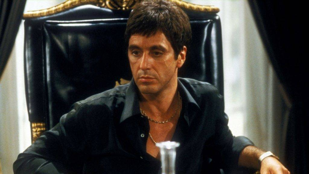 www.kobal-collection.comTitle: SCARFACE (1983) ¥ Pers: PACINO, AL ¥ Year: 1983 ¥ Dir: DE PALMA, BRIAN ¥ Ref: SCA014CS ¥ Credit: [ UNIVERSAL / THE KOBAL COLLECTION ]SCARFACE (1983),  January 1, 1983Photo by Kobal/UNIVERSAL/The Kobal Collection/WireImage.comTo license this image (10616065), contact The Kobal Collection/WireImage.com