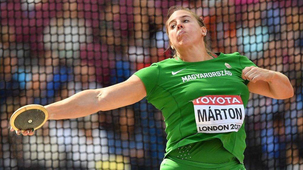 Hungary's Anita Márton competes in the women's discus throw athletics event at the 2017 IAAF World Championships at the London Stadium in London on August 11, 2017. / AFP PHOTO / Ben STANSALL