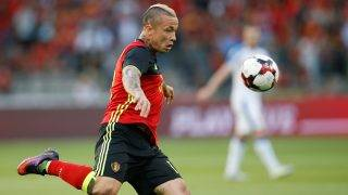 Belgium's Radja Nainggolan in action with the ball during a friendly game between Belgian national soccer team Red Devils and Czech Republic, Monday 05 June 2017, in Brussels. BELGA PHOTO BRUNO FAHY