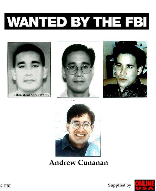 Wanted By The Fbi: Andrew Cunanan (Photo By Fbi/Getty Images)