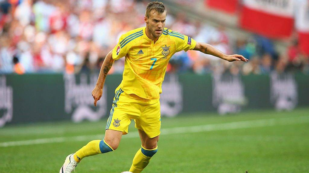 MARSEILLE, FRANCE - JUNE 21:  Andriy Yarmolenko of Ukraine in action the UEFA EURO 2016 Group C match between Ukraine and Poland at Stade Velodrome on June 21, 2016 in Marseille, France.  (Photo by Alex Livesey/Getty Images)