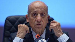 DOHA, QATAR - NOVEMBER 17: PASO President Julio Cesar Maglione speaks at the PASO Extraordinary General Assembly during the fifth day of the 21st ANOC General Assembly at the Sheraton Grand Hotel on November 17, 2016 in Doha, Qatar. (Photo by Mark Runnacles/Getty Images for ANOC)