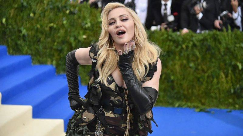 """NEW YORK, NY - MAY 01:  Madonna attends the """"Rei Kawakubo/Comme des Garcons: Art Of The In-Between"""" Costume Institute Gala at Metropolitan Museum of Art on May 1, 2017 in New York City.  (Photo by Mike Coppola/Getty Images for People.com)"""