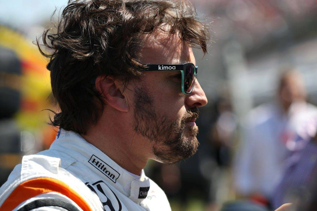 BUDAPEST, HUNGARY - JULY 30: Fernando Alonso of Spain and McLaren Honda prepares to drive on the grid before the Formula One Grand Prix of Hungary at Hungaroring on July 30, 2017 in Budapest, Hungary.  (Photo by Mark Thompson/Getty Images)