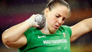 LONDON, ENGLAND - AUGUST 09:  Anita Marton of Hungary competes in the Women's Shot Put final during day six of the 16th IAAF World Athletics Championships London 2017 at The London Stadium on August 9, 2017 in London, United Kingdom.  (Photo by Andy Lyons/Getty Images for IAAF)