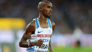 LONDON, ENGLAND - AUGUST 12:  Mohamed Farah of Great Britain competes in the Men's 5000 Metres final during day nine of the 16th IAAF World Athletics Championships London 2017 at The London Stadium on August 12, 2017 in London, United Kingdom.  (Photo by Richard Heathcote/Getty Images)