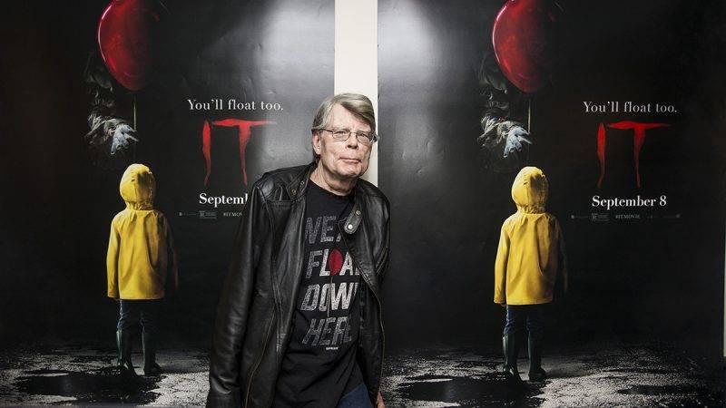 "BANGOR, ME - SEPTEMBER 06:  Stephen King attends a special screening of ""IT"" at Bangor Mall Cinemas 10 on September 6, 2017 in Bangor, Maine.  (Photo by Scott Eisen/Getty Images for Warner Bros.)"