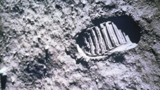 Astronaut Footprint on the Moon Apollo 11 MissionJuly 20, 1969