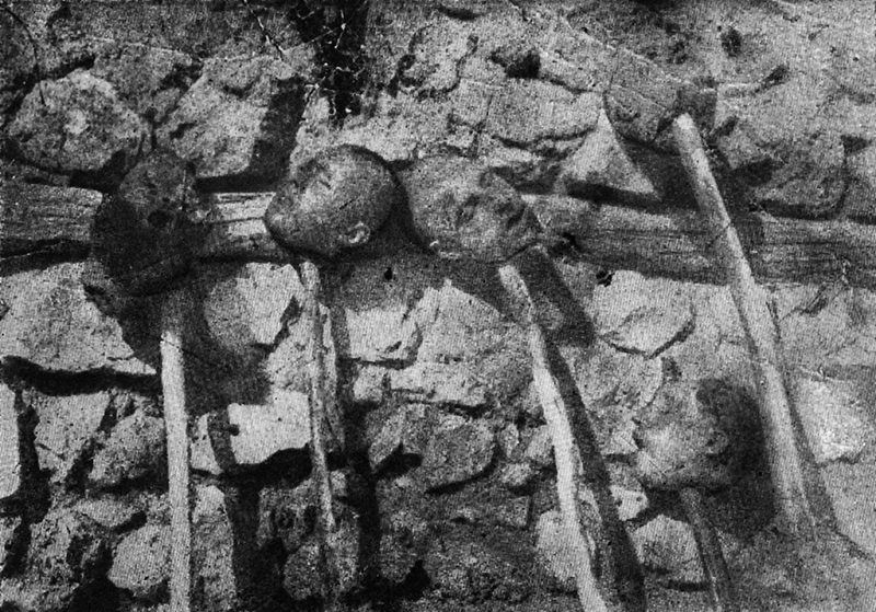A picture released by the Armenian Genocide Museum-Institute dated 1915 purportedly shows severed heads of Armenians killed by Turkish forces during the First World War. Armenians say up to 1.5 million of their forebears were killed in a 1915-16 genocide by Turkey's former Ottoman Empire. Turkey says 500,000 died and ascribes the toll to fighting and starvation during World War I. AFP PHOTO / ARMENIAN GENOCIDE MUSEUM INSTITUTE / AFP PHOTO / AGMI / STR