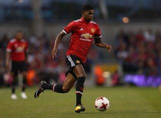 DUBLIN, IRELAND - AUGUST 02:  Marcus Rashford of Manchester United during the International Champions Cup match between Manchester United and Sampdoria at Aviva Stadium on August 2, 2017 in Dublin, Ireland.  (Photo by Ian Walton/Getty Images)