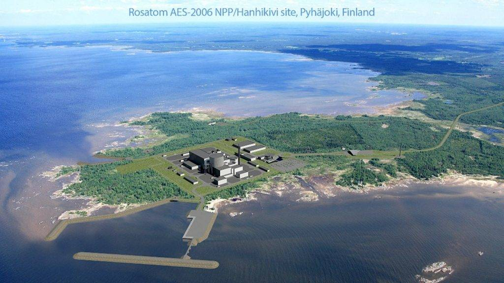 "An undated handout provided by Finnish nuclear power company Fennovoima shows an illustration of the planned nuclear plant by Russia's State Atomic Energy Corporation Rosatom on the design of an AES-2006  NNP, at Hanhikivi site, Pyhaejoki, Finland. Finland's parliament on December 5, 2014 gave the green-light to the construction of the country's third nuclear plant by Russia's Rosatom. AFP PHOTO / LEHTIKUVA / FENNOVOIMA +++ FINLAND OUT +++ RESTRICTED TO EDITORIAL USE - MANDATORY CREDIT ""AFP PHOTO / LEHTIKUVA / FENNOVOIMA "" - NO MARKETING NO ADVERTISING CAMPAIGNS - DISTRIBUTED AS A SERVICE TO CLIENTS / AFP PHOTO / FENNOVOIMA / -"