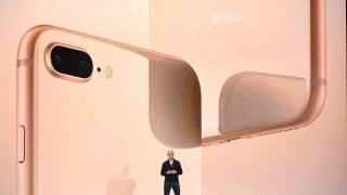 Apple CEO Tim Cook speaks about the new iPhone lineup during a media event at Apple's new headquarters in Cupertino, California on September 12, 2017.  / AFP PHOTO / Josh Edelson