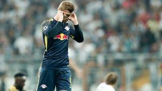 Leipzig's Timo Werner holding his ears due to the background noise during the Champions League Group G football match between Besiktas Istanbul and RB Leipzig at the Vodafone Arena in Istanbul, Turkey, 26 September 2017. Photo: Jan Woitas/dpa-Zentralbild/dpa