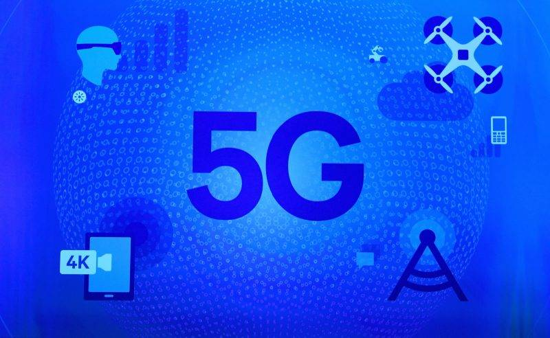LAS VEGAS, NV - JANUARY 06: A 5G sign is shown on screen during a keynote address by Qualcomm Inc. CEO Steve Mollenkopf at CES 2017 at The Venetian Las Vegas on January 6, 2017 in Las Vegas, Nevada. CES, the world's largest annual consumer technology trade show, runs through January 8 and features 3,800 exhibitors showing off their latest products and services to more than 165,000 attendees.   Ethan Miller/Getty Images/AFP