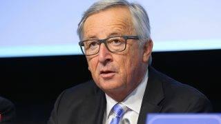 BRUSSELS, BELGIUM - SEPTEMBER 21:  European Commission President Jean-Claude Juncker speaks during the 528th Plenary Session of the European Economic and Social Committee (EESC) in Brussels, Belgium on September 21, 2017. Dursun Aydemir / Anadolu Agency