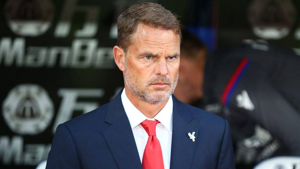 Crystal Palace manager Frank de Boer 