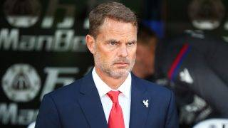 Crystal Palace manager Frank de Boer  during Carabao Cup 2nd Round   match between Crystal Palace and Ipswich Town at Selhurst Park Stadium, London,  England on 22 August 2017. (Photo by Kieran Galvin/NurPhoto)