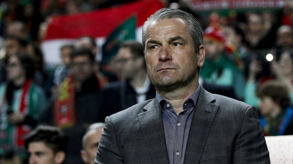 Hungary's coach Bernd Storck during the WC 2018 qualifier football match between Portugal vs Hungary, in Lisbon, on March 25, 2017.  (Photo by Carlos Palma/NurPhoto)