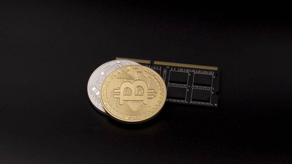 A view of Bitcoin token. 