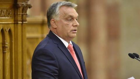 Budapest, 2017. szeptember 18. Orbán Viktor miniszterelnök felszólal napirend elõtt az Országgyûlés plenáris ülésén 2017. szeptember 18-án. MTI Fotó: Máthé Zoltán