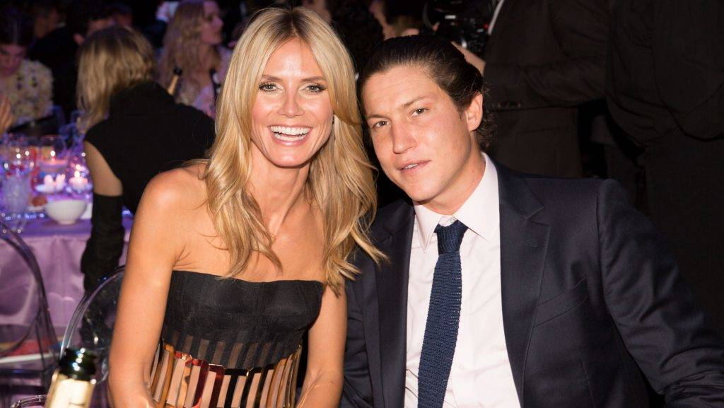 MILAN, ITALY - SEPTEMBER 20:  Heidi Klum and Vito Schnabel attend the amfAR Milano 2014 - Gala Dinner and Auction as part of Milan Fashion Week Womenswear Spring/Summer 2015 on September 20, 2014 in Milan, Italy.  (Photo by Kevin Tachman/Getty Images)