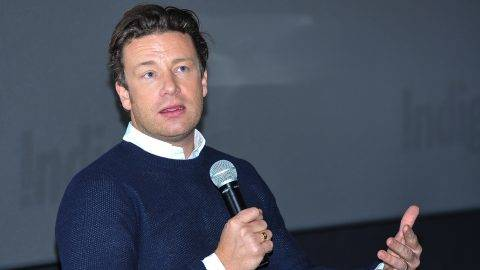 TORONTO, ON - OCTOBER 28:  Jamie Oliver attends the Indigo exclusive: private screening of his new Food Network Canada show, Jamie's Super Food and brand new cookbook Everyday Super Food at Cineplex Odeon Varsity and VIP Cinemas on October 28, 2015 in Toronto, Canada.  (Photo by George Pimentel/WireImage)