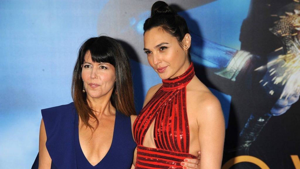 """HOLLYWOOD, CA - MAY 25: (L-R) Director Patty Jenkins and actress Gal Gadot attend the premiere of Warner Bros. Pictures """"'Wonder Woman"""" at the Pantages Theatre on May 25, 2017 in Hollywood, California. (Photo by Frank Trapper/Corbis via Getty Images)"""