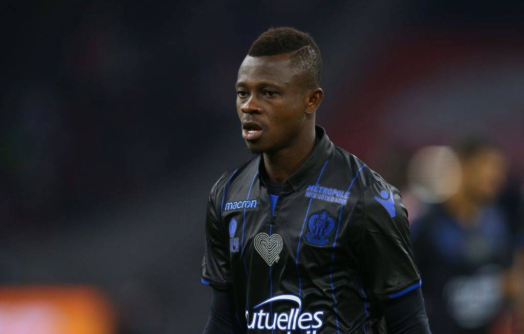 AMSTERDAM, NETHERLANDS - AUGUST 02: Jean Michael Seri of OGC Nice during the UEFA Champions League Qualifying Third Round match between Ajax and OSC Nice at Amsterdam Arena on August 2, 2017 in Amsterdam, Netherlands. (Photo by Catherine Ivill - AMA/Getty Images)