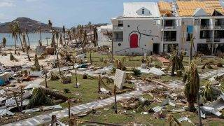 SAINT MARTIN - SEPTEMBER 11:   Hurricane damage on the island of Saint Martin after the passage of the hurricane IRMA through the Caribbean Islands on September 11, 2017 in the French island of Saint Martin.  (Photo by Aurelien Morissard/IP3/Getty Images)