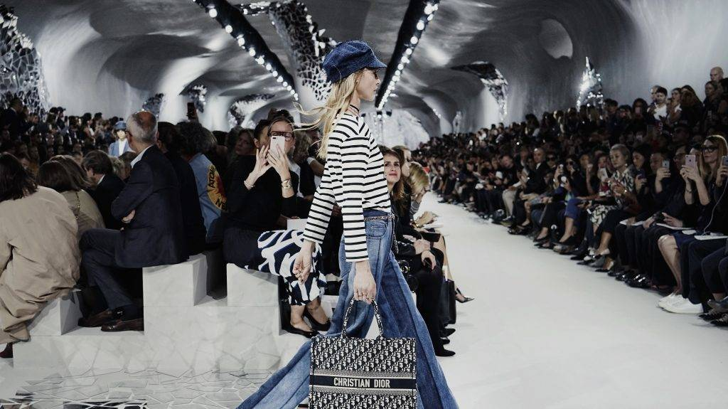 PARIS, FRANCE - SEPTEMBER 27:  (EDITORS NOTE: This image was processed using digital filters) A model walks the runway during the Christian Dior show as part of the Paris Fashion Week Womenswear Spring/Summer 2018 on September 26, 2017 in Paris, France.  (Photo by Vittorio Zunino Celotto/Getty Images)