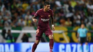LISBON, PORTUGAL - SEPTEMBER 27: Paulinho of FC Barcelona in action during the UEFA Champions League group D match between Sporting CP and FC Barcelona at Estadio Jose Alvalade on September 27, 2017 in Lisbon, Portugal. (Photo by Octavio Passos/Getty Images)