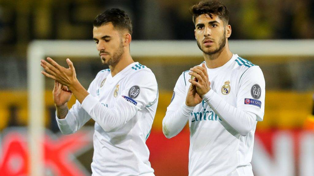 DORTMUND, GERMANY - SEPTEMBER 26: Marco Asensio of Real Madrid gestures during the UEFA Champions League group H match between Borussia Dortmund and Real Madrid at Signal Iduna Park on September 26, 2017 in Dortmund, Germany. (Photo by TF-Images/TF-Images via Getty Images)