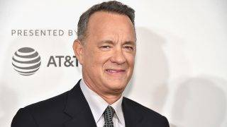 """NEW YORK, NY - APRIL 26: Tom Hanks attends """"The Circle"""" Premiere at the BMCC Tribeca PAC on April 26, 2017 in New York City.   Theo Wargo/Getty Images for Tribeca Film Festival/AFP"""