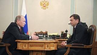 December 30, 2011. Prime Minister Vladimir Putin, left, meeting with Deputy Prime Minister Vladislav Surkov, right, in Novo-Ogaryovo.